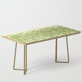 Sugar Cane Exotic Plant Pattern Coffee Table