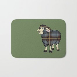 Faded Johnston Tartan Sheep Bath Mat