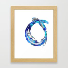 White And Blue Abstract Art - Swirling 4 - Sharon Cummings Framed Art Print