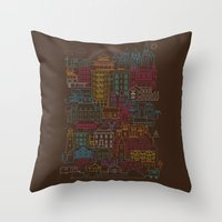 home sweet home Throw Pillows featuring Home Sweet Home by Rick Crane