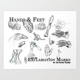 Hands and Feet Art Print