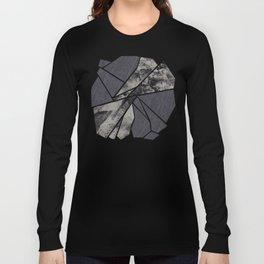 black and white flower Long Sleeve T-shirt