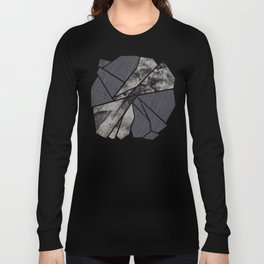 black and white flower Long Sleeve T-shirt