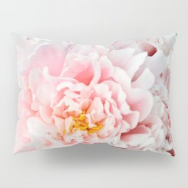 Peony Flower Photography, Pink Peony Floral Art Print Nursery Decor A happy life - Peonies 2 Pillow Sham