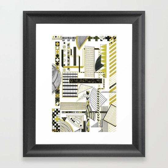 Lill Bit of Gold Framed Art Print