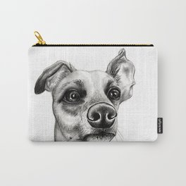 Whippet Wearing Bow Tie Carry-All Pouch