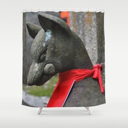 Kitsune Fox Shower Curtain