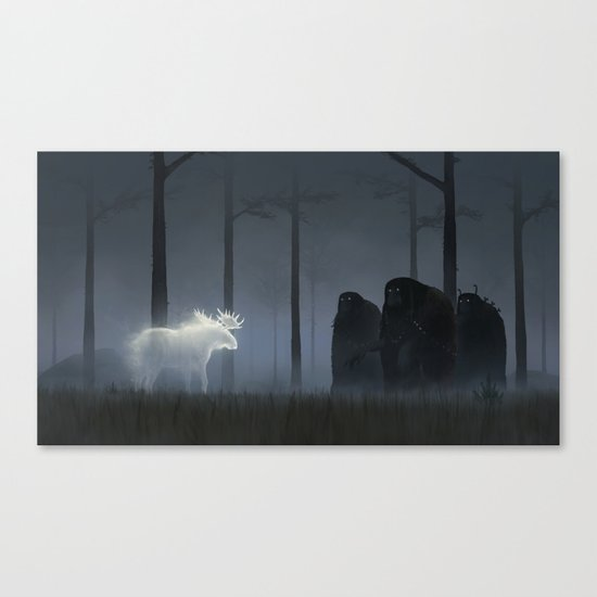 Wandering In The Night Canvas Print