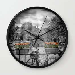 Typically AMSTERDAM Wall Clock