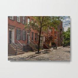 Sunny city street, downtown, Manhattan, New York (2020-6-GNY169) Metal Print