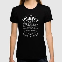 Lao Tzu Gift The Journey of a Thousand Miles Present for Chinese Philosophy Students and Travelers T-shirt