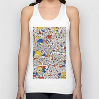 london map Tank Tops featuring London by Mondrian Maps