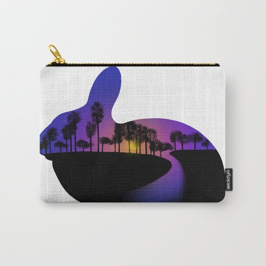 Sunset Rabbit  Carry-All Pouch