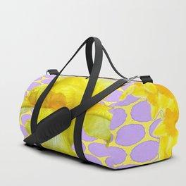 ABSTRACT YELLOW SPRING IRIS GOLDEN DAFFODILS FRAME Duffle Bag
