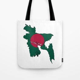 Bangladesh Map with Bangladeshi Flag Tote Bag