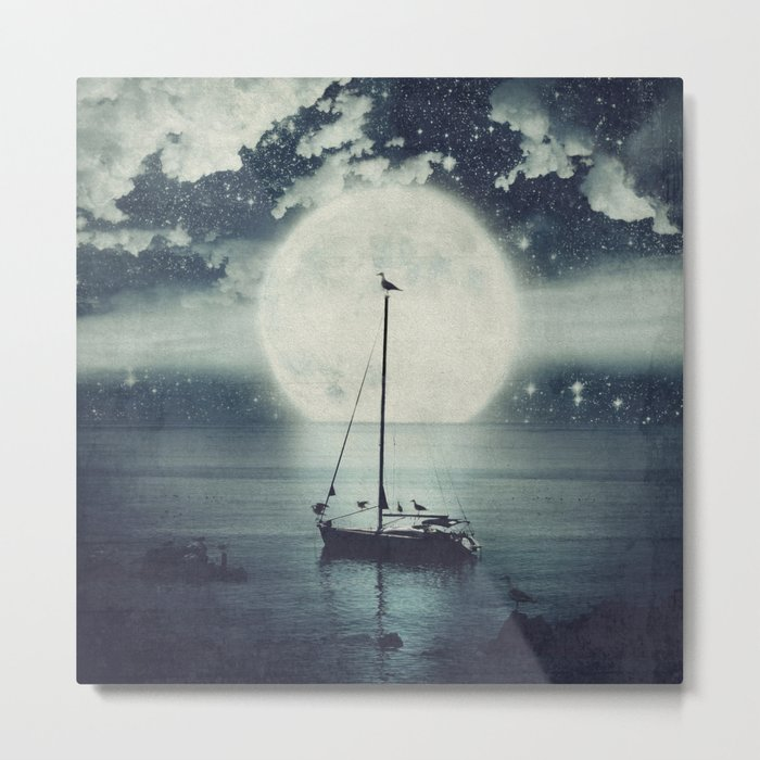 A Journey Under A Starry Night Sky Metal Print