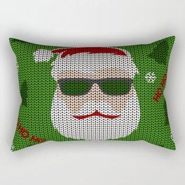 Santa Claus - Ugly Christmas Sweater Rectangular Pillow