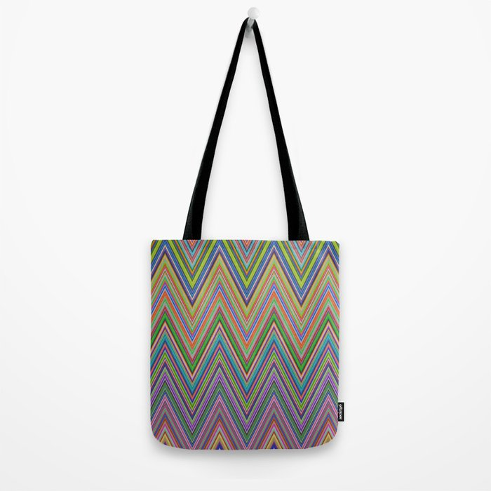 Vivid herringbones Tote Bag
