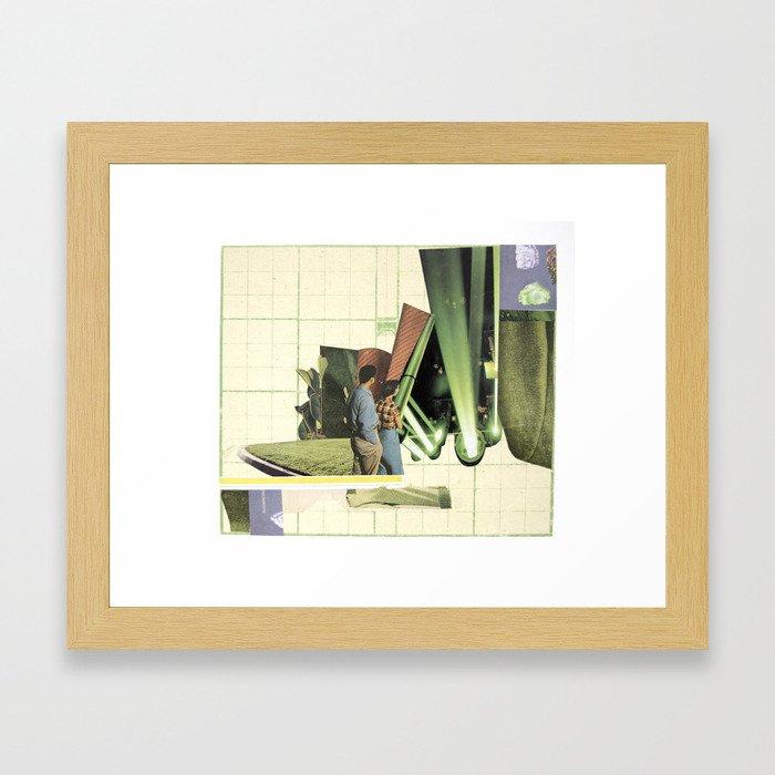 How did I get here? Framed Art Print