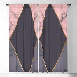 Marble Geometry 018 Blackout Curtain