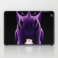 gengar iPad Cases featuring Grim Gengar by JackiesGamingArt