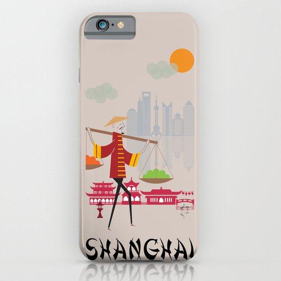 Shanghai - In the City - Retro Travel Poster Design iPhone & iPod Case