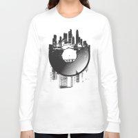 deadmau5 Long Sleeve T-shirts featuring Urban Vinyl by Sitchko Igor