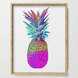 Retrowave Neon Pineapple Vaporwave Hawaiian Gift Serving Tray