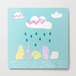Sweet rabbits Metal Print