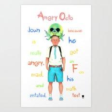 Angryocto - Joun's Math grade Art Print