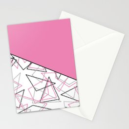 Abstract pink combo pattern . Stationery Cards