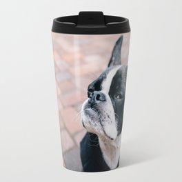 Bruce the Boston Terrier Pug Travel Mug