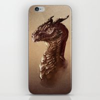smaug iPhone & iPod Skins featuring Smaug the Golden by SUIamena