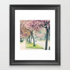 Spring Boulevard Framed Art Print