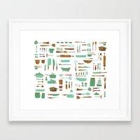 kitchen Framed Art Prints featuring Kitchen by Mathilde Ruau