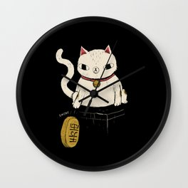 actual lucky cat Wall Clock