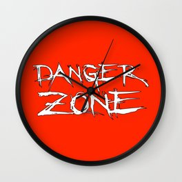 Danger Zone (Chris Danger) Wall Clock
