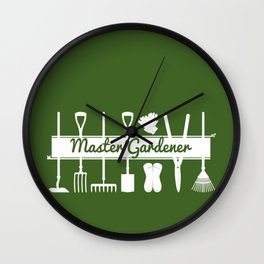 Modern Forest Green Master Gardeners  Wall Clock
