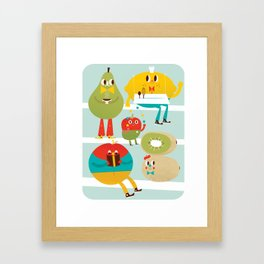 cute fruit Framed Art Print
