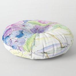 Hydrangea, Still Life Floor Pillow