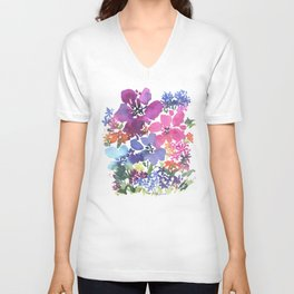 Pretty Poppy Patch Unisex V-Neck