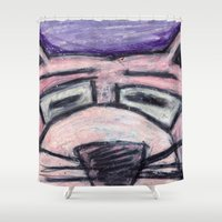 panther Shower Curtains featuring Pink Panther by Ibbanez