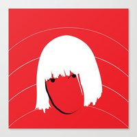 sia Canvas Prints featuring Girls Like Sia  by Smudgey Paw