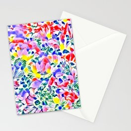Floral Summer greetings 1A Stationery Cards