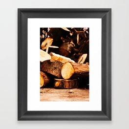 Chopped Wood Framed Art Print