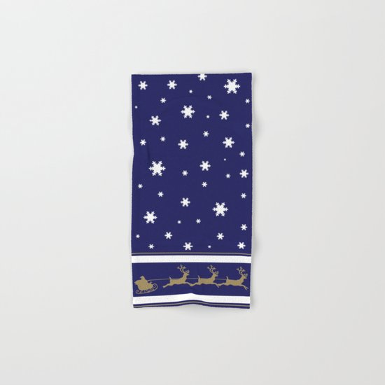 Christmas Santa Claus Hand & Bath Towel
