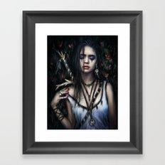 In the Rose Garden Framed Art Print