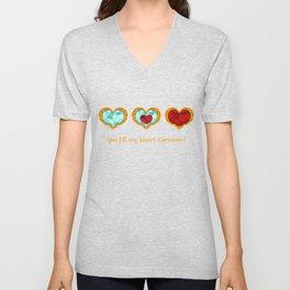HEART CONTAINER Unisex V-Neck
