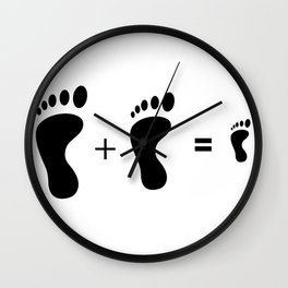 Family footprints love gift for all Wall Clock