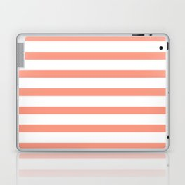 Seamless coral striped pattern on white Laptop & iPad Skin